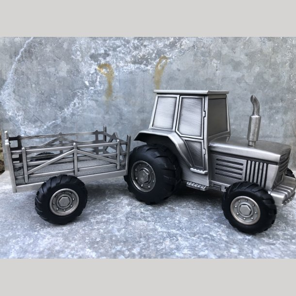Sparebøsse som traktor med vogn