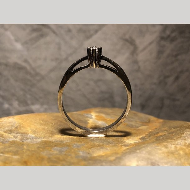Young Star Ring 0,05 hvidguld