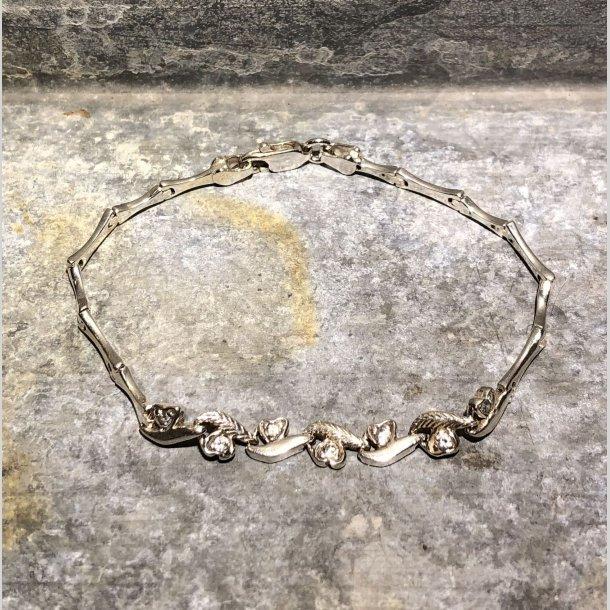 2.nd Hand - armbånd i sølv med zirkoner