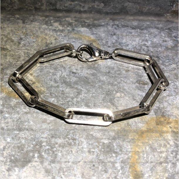 2.nd Hand - Armbånd i sølv med åbne rustikke led