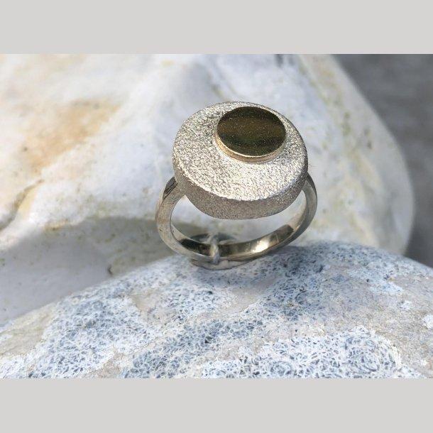 Rusca Ring i sølv med 14 krt. guld