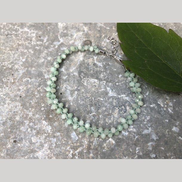 Ægte sten armbånd med green opal