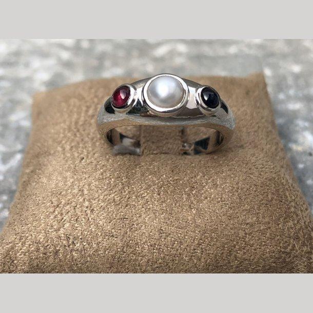 Mads Z sølv ring med ædelstene