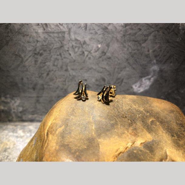 Guld øreringe 14 krt fra Aagaard