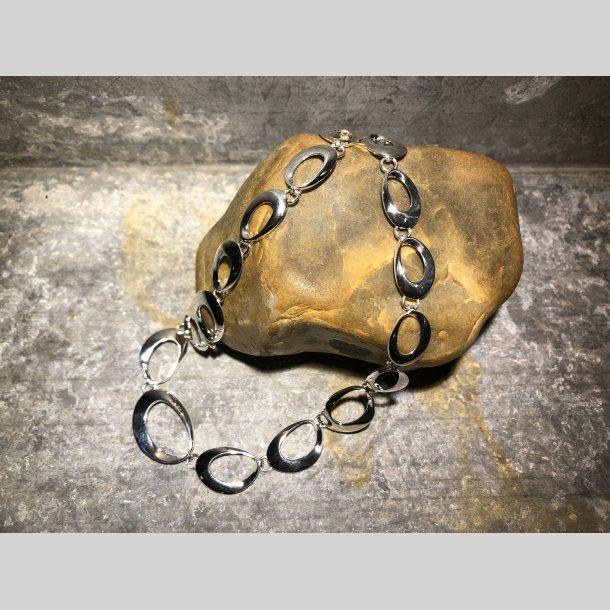 Halskæde i sølv fra Aagaard