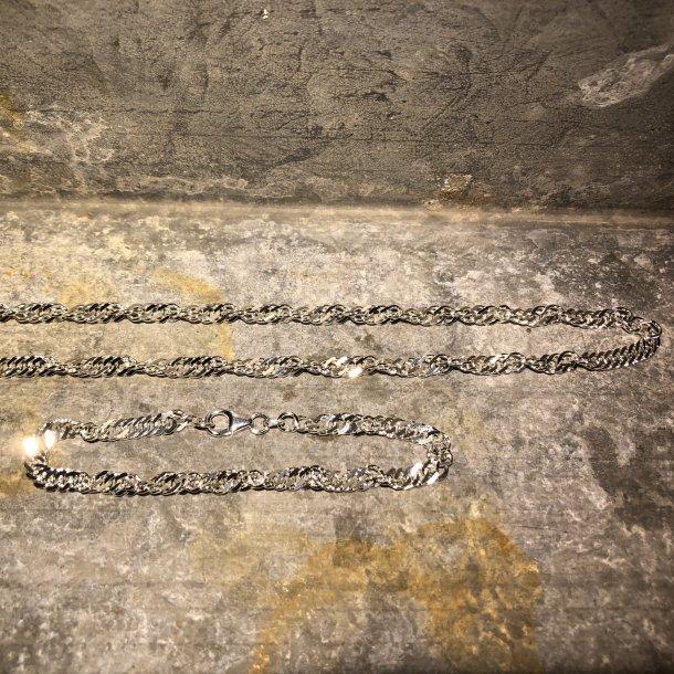 Armbånd i Panser, sølv 1,85/6,3 mm