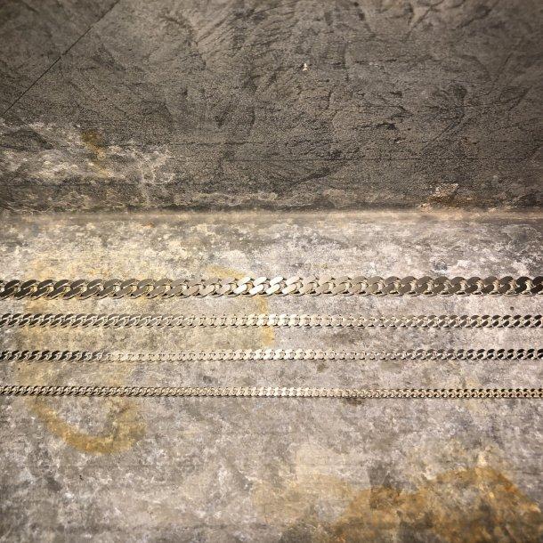 Halskæde i Panser, sølv 1,05/3,8 mm
