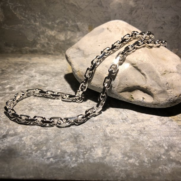 Halskæde i Anker Facet 2,2 mm i sølv