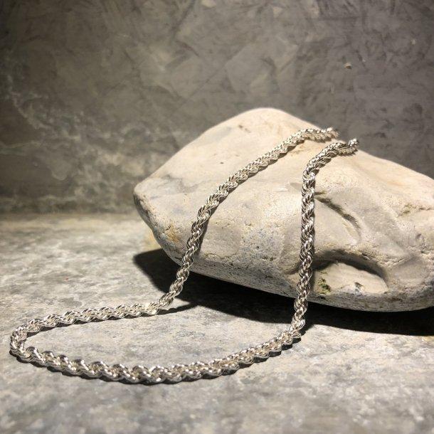 Halskæde i Cordel i sølv