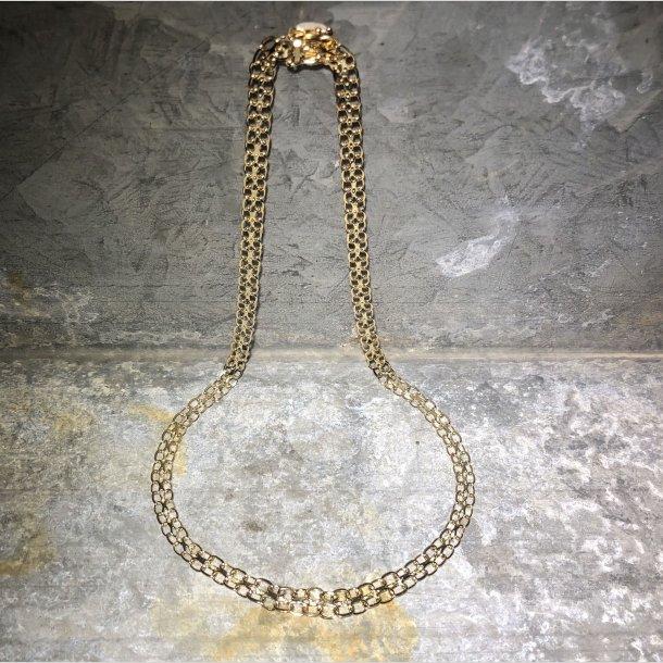 Halskæde 14 krt guld X uden stav