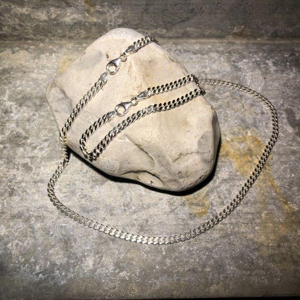 Armbånd i Panser 1,25 mm i sølv