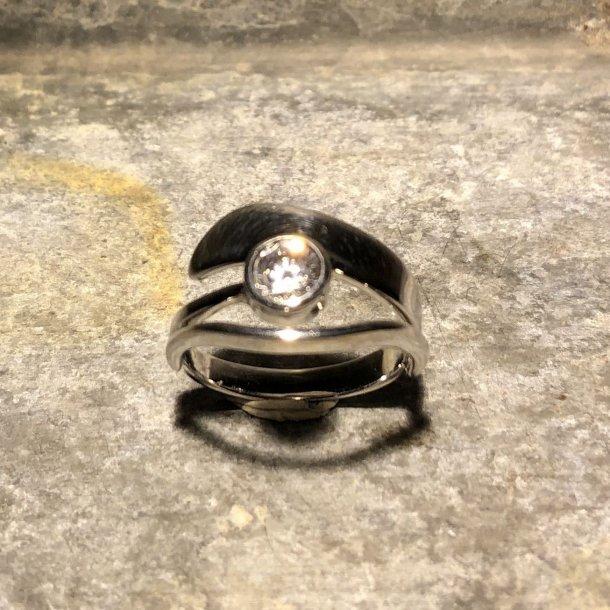 Ring i sølv med Blicher Fuglsang