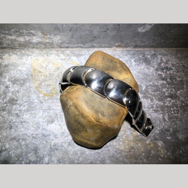 Massivt sølvarmbånd fra Kurt Nielsen