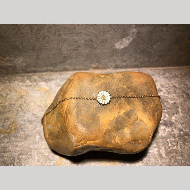 Armlænke i sølv forgyldt med enkelt marguerit