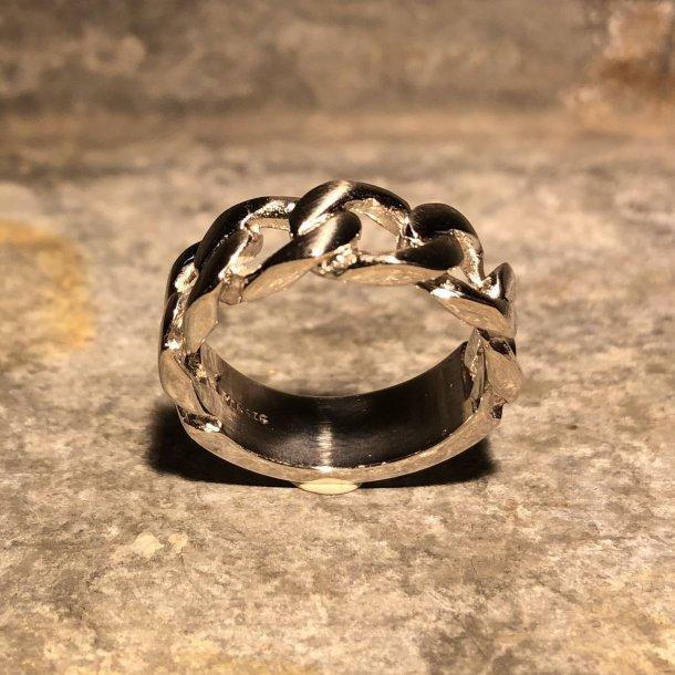 Panserring i sølv fra Nordahl