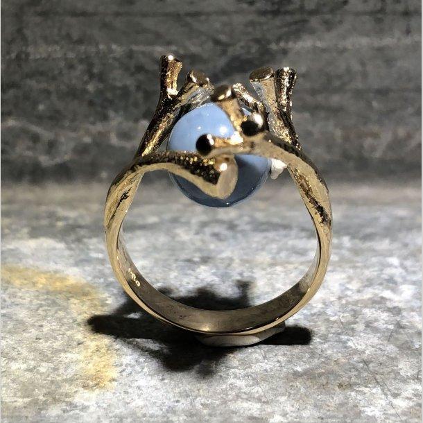 Ring i 14 krt guld med 4 forgreninger